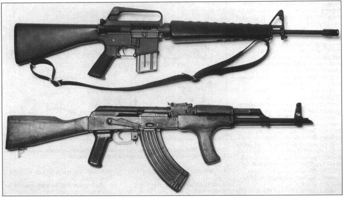 m16a1 ak47 comparison