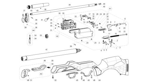 Walther Rotex RM8 Disassembly Diagram