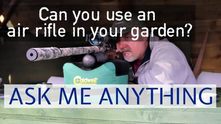 air rifle in garden