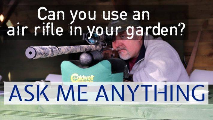 air rifle in garden