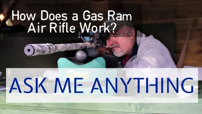 how does gas ram air rifle work