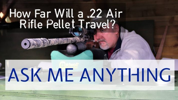 how far will a 22 air rifle pellet travel